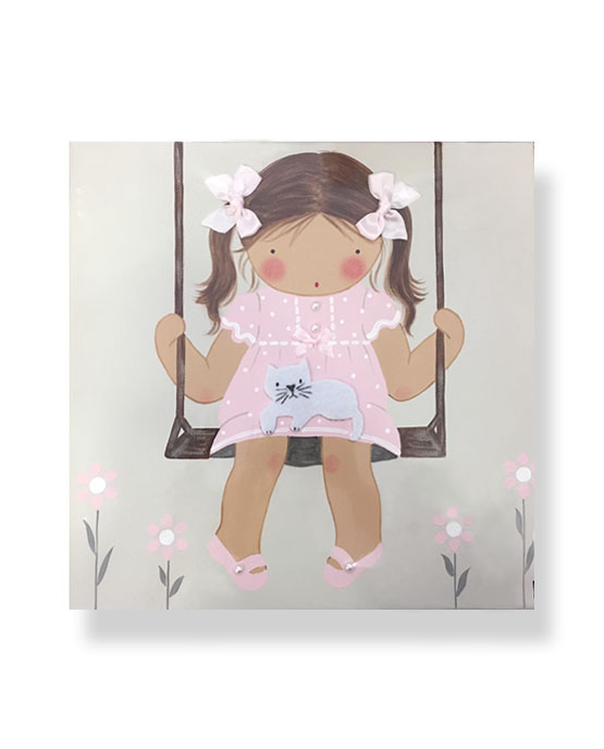 Cuadros infantiles Originales Personalizados Niña Columpio