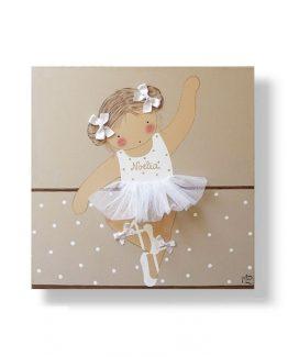 Cuadros infantiles Originales Personalizados Niña Bailarina