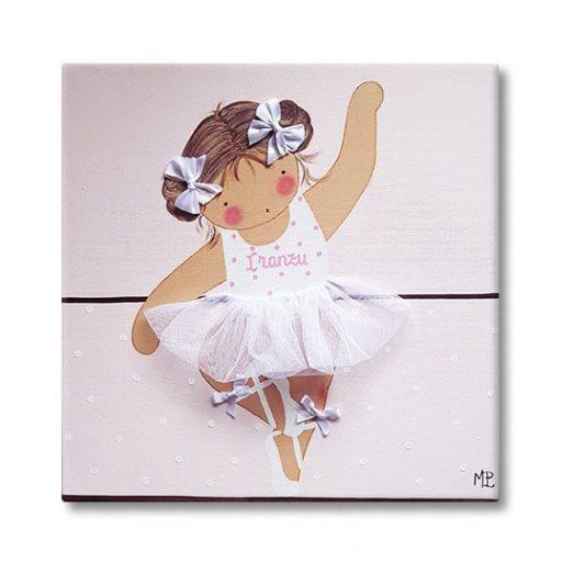 cuadros infantiles bailarina con nombre personalizado y original
