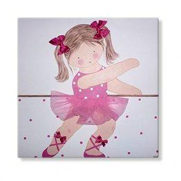 cuadros infantiles bailarinas personalizados con nombre artesanales lienzos decoracion regalos bebes ninos ninas blaucasa