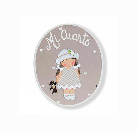 placas para puertas infantiles personalizadas con nombre bebe decorativa artesanal nina nino regalos originales blaucasa pamela gorrito osito