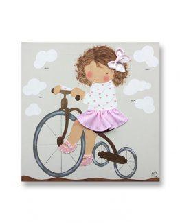 Cuadros infantiles Originales Personalizados Niña Bicicleta