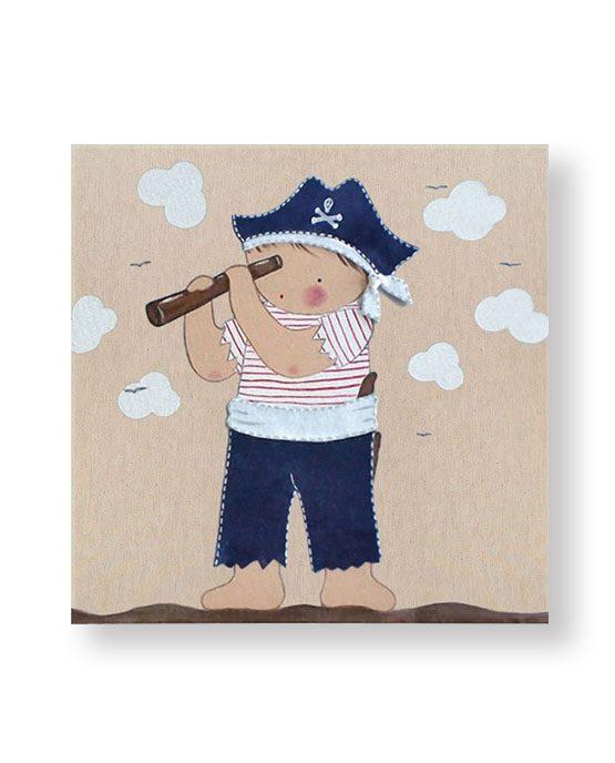 Cuadro infantil Niño Pirata