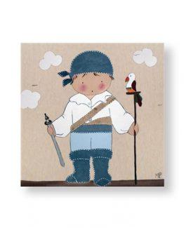 cuadros-infantiles-niño-pirata-espada