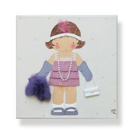 Cuadros Infantiles Originales Personalizados Niña Disfraz Años 20 Charlestón