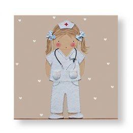 Cuadros Infantiles Originales Personalizados Niña Medica