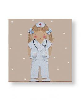 cuadros infantiles niña medica