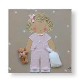 Cuadros Infantiles Originales Personalizados Niña Pijama