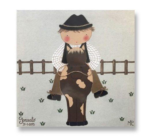 cuadros infantiles animales personalizados con nombre artesanales lienzos decoracion regalos bebes ninos ninas blaucasa