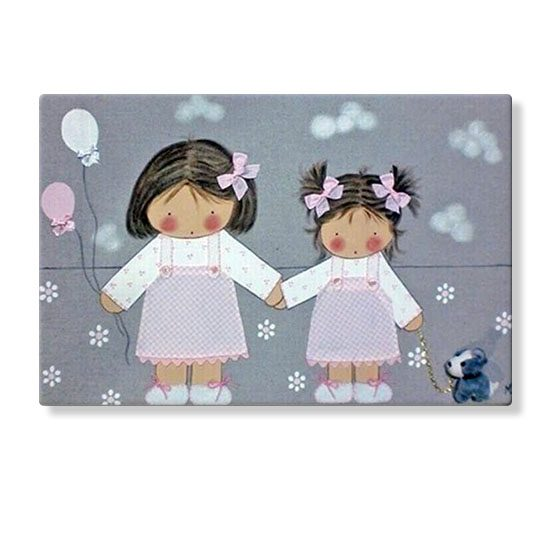 cuadros infantiles personalizados con nombre artesanales lienzos decoracion regalos bebes niños niñas blaucasa hermanos