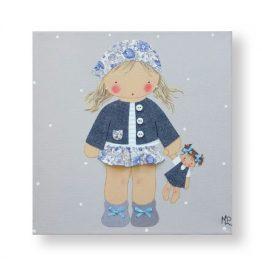 Cuadros Infantiles Originales Personalizados Niña Muñeca