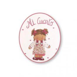 placas para puertas intantiles personalizadas con nombre bebe decorativa artesanal nina nino regalos originales niña coletas