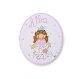 placas para puertas intantiles personalizadas con nombre bebe decorativa artesanal nina nino regalos originales hada