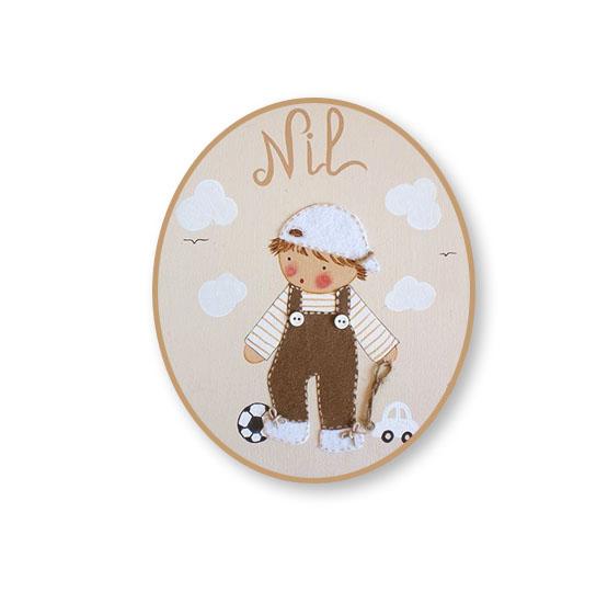 placas para puertas infantiles personalizadas con nombre bebe decorativa artesanal nina nino regalos originales pirata