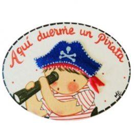 placas para puertas intantiles personalizadas con nombre bebe decorativa artesanal niña niño regalos originales blaucasa pirata niño