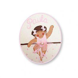 placas para puertas infantiles personalizadas con nombre bebe decorativa artesanal nina nino regalos originales bailarina ballet