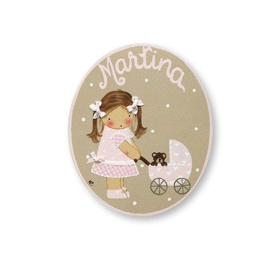 placas para puertas intantiles personalizadas con nombre bebe decorativa artesanal nina nino regalos originales blaucasa carrito