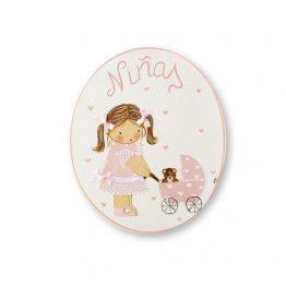 placas para puertas infantiles personalizadas con nombre bebe decorativa artesanal nina nino regalos originales blaucasa carrito