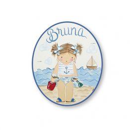 placas para puertas intantiles personalizadas con nombre bebe decorativa artesanal nina nino regalos originales playa
