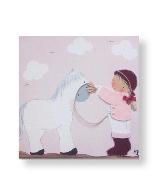 Cuadros Infantiles Originales Personalizados Niña Caballo