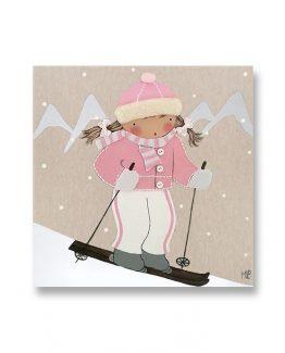 Cuadro infantil Esquiadora