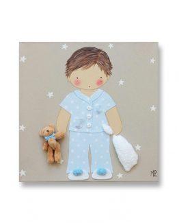 Cuadros Infantiles Originales Personalizados Niño Pijama
