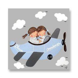 Cuadros infantiles Originales Personalizados Avion Niñas