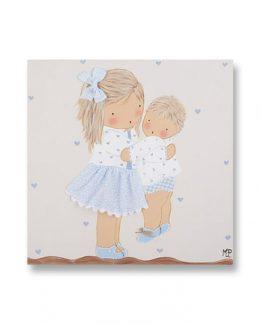cuadros-infantiles-hermanos-abrazo