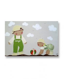 cuadros-infantiles-hermanos-playa