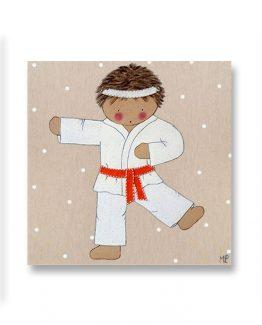 cuadros-infantiles-niño-karate