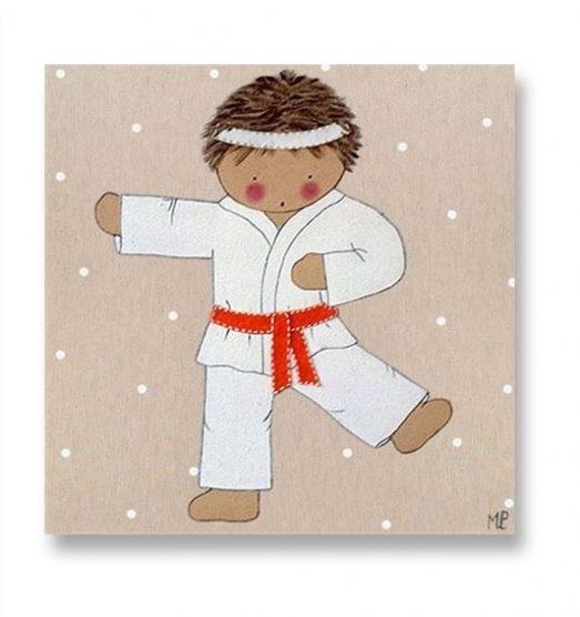 Cuadros infantiles Originales Personalizados Karate