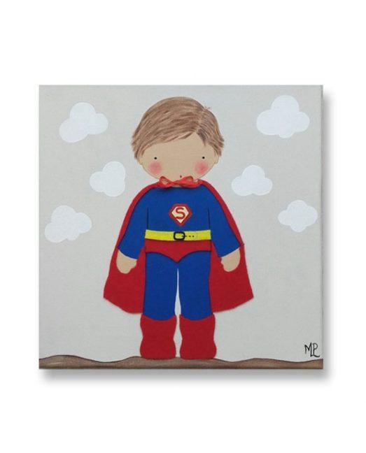 Cuadros Infantiles Originales Personalizados Niño Superman