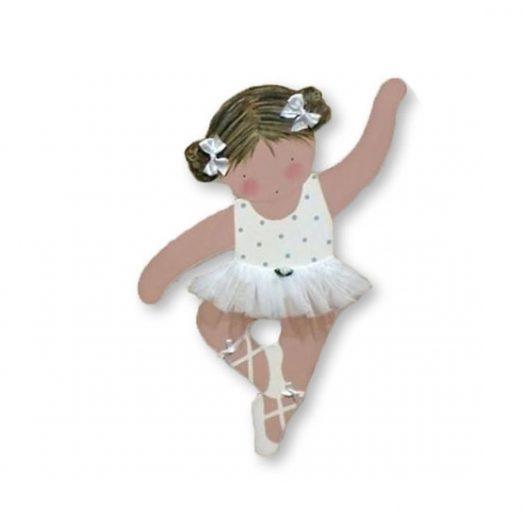 silueta de bailarina infantil