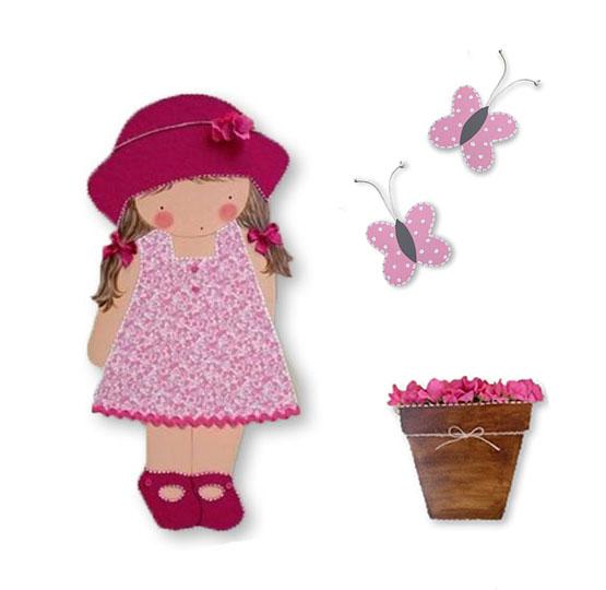 Silueta de madera infantil ni a con sombrero blaucasa - Siluetas madera infantiles ...