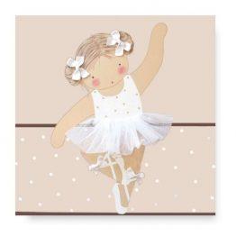 Cuadro Infantil bailarina con nombre blaucasa