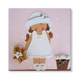 cuadros infantiles personalizados con nombre artesanales lienzos decoracion regalos bebes niños niñas blaucasa pamela maceta