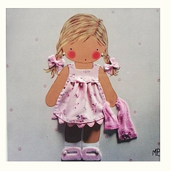 cuadros infantiles con nombre personalizados niña toalla blaucasa