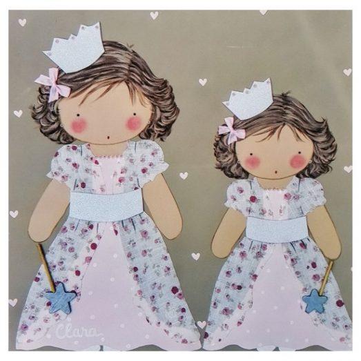 cuadros infantiles con nombre personalizados niñas hadas blaucasa