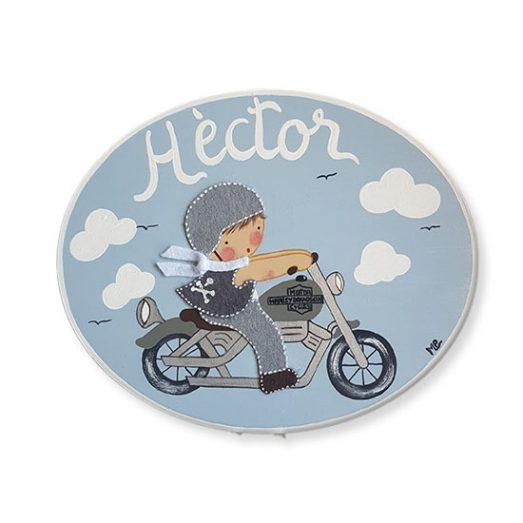 placa puerta infantil moto harley
