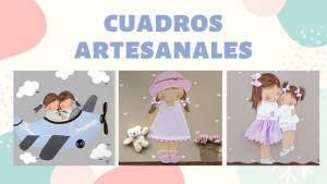 cuadros infantiles personalizados con nombre artesanales lienzos decoracion regalos bebes niños niñas blaucasa