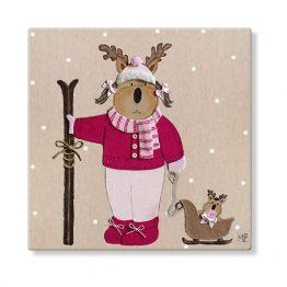 cuadros infantiles personalizados con nombre artesanales lienzos decoracion regalos bebes niños niñas blaucasa animales ciervo