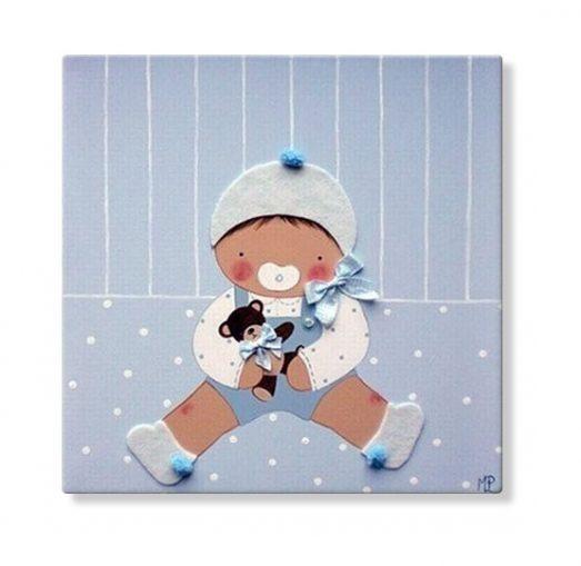 Cuadro Personalizado Bebé Infantil con nombre para decorar habitaciones infantiles
