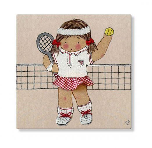 cuadros infantiles personalizados con nombre artesanales lienzos decoracion regalos bebes niños niñas blaucasa tenis
