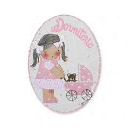 placas para puertas intantiles personalizadas con nombre bebe decorativa artesanal niña niño regalos originales blaucasa carrito