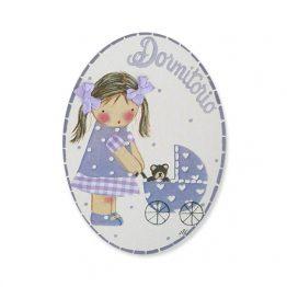 placas para puertas infantiles personalizadas con nombre bebe decorativa artesanal niña niño regalos originales blaucasa carrito