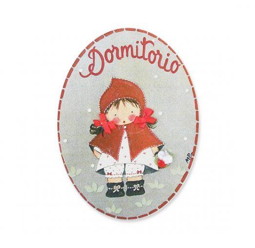 placas para puertas intantiles personalizadas con nombre bebe decorativa artesanal niña niño regalos originales blaucasa caperucita