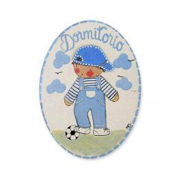 placas para puertas intantiles personalizadas con nombre bebe decorativa artesanal niña niño regalos originales blaucasa futbol