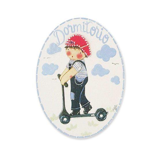 placas para puertas intantiles personalizadas con nombre bebe decorativa artesanal niña niño regalos originales blaucasa patinete
