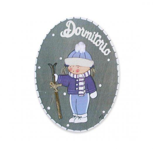 placas para puertas intantiles personalizadas con nombre bebe decorativa artesanal niña niño regalos originales blaucasa esquí invierno