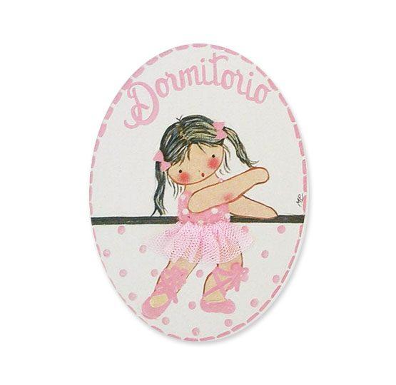 placas para puertas intantiles personalizadas con nombre bebe decorativa artesanal niña niño regalos originales blaucasa bailarina ballet